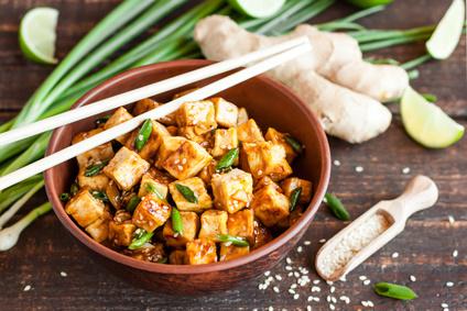Tofu et edamame
