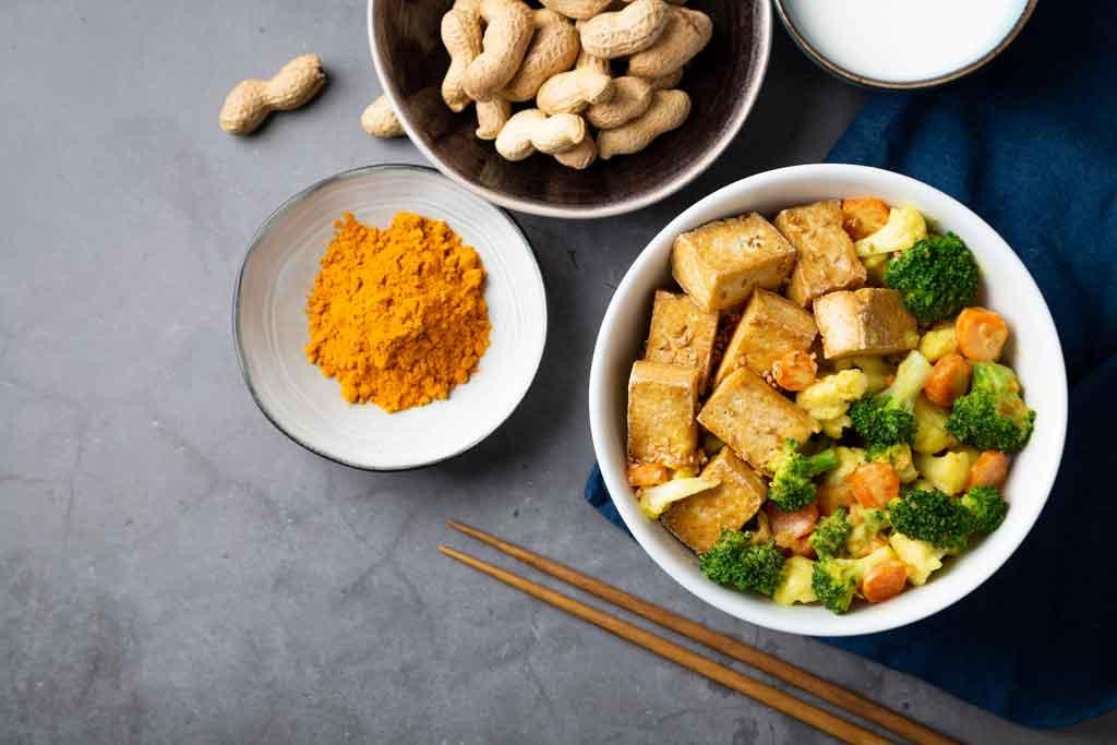 Recette de tofu aux arachides