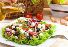 Frais, Grec, salade, plaque